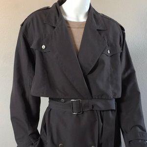 Jackets & Blazers - Gray Light-Long Trench Coat